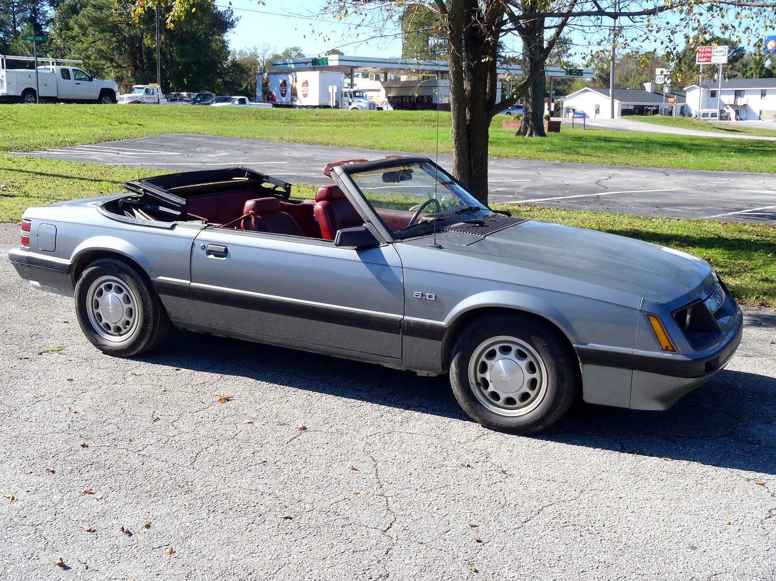 1985 ford mustang 5 0 lx fox body convertible for sale. Black Bedroom Furniture Sets. Home Design Ideas