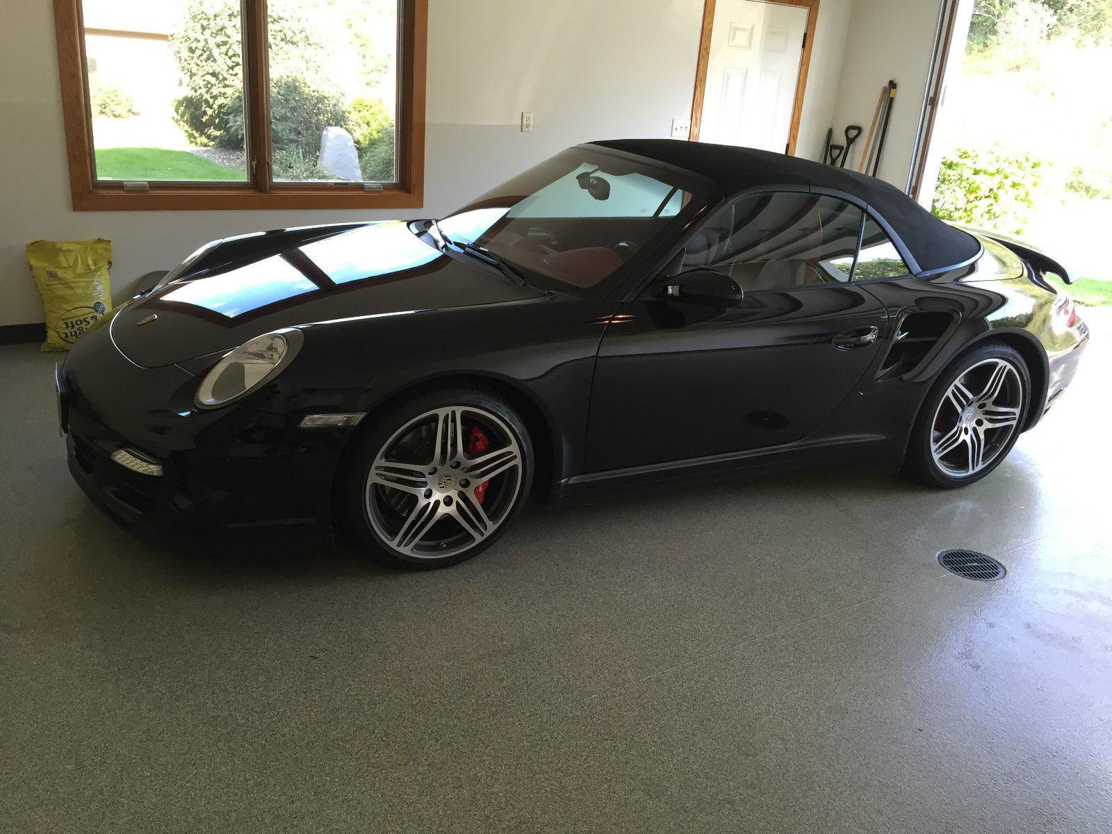 2009 porsche 911 turbo cabriolet black for sale. Black Bedroom Furniture Sets. Home Design Ideas