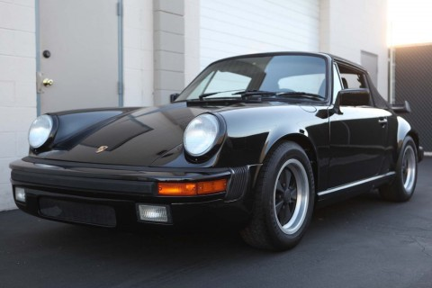 1988 Porsche 911 Carrera Cabriolet Triple Black for sale