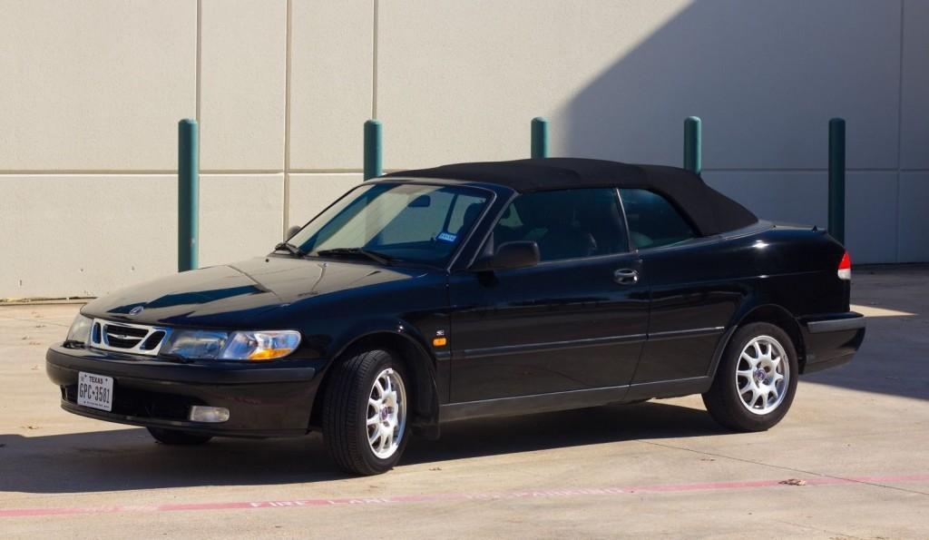 1999 Saab 9 3 Black on Black Convertible