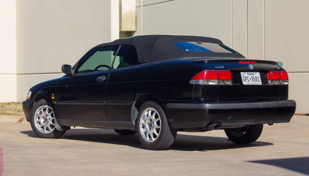 1999 saab 9 3 black on black convertible for sale. Black Bedroom Furniture Sets. Home Design Ideas