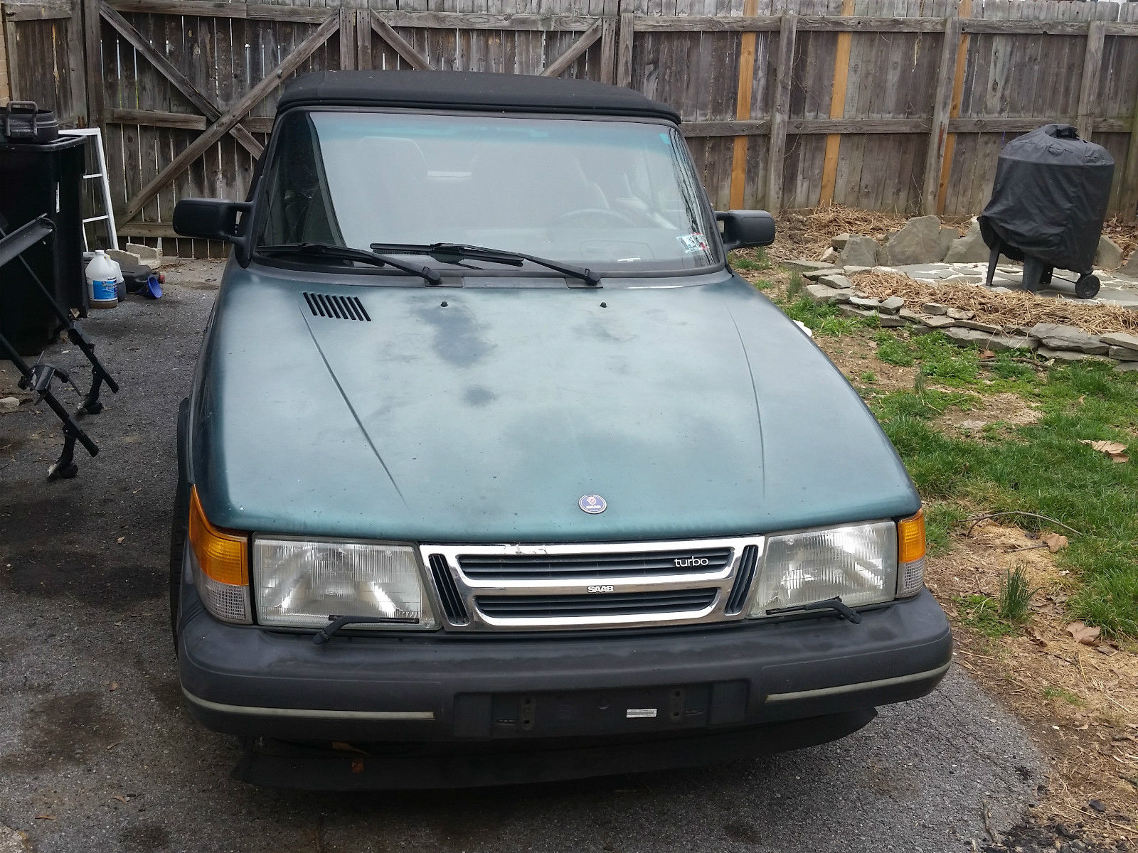 1992 saab 900 turbo convertible 2 door 2 0l for sale. Black Bedroom Furniture Sets. Home Design Ideas