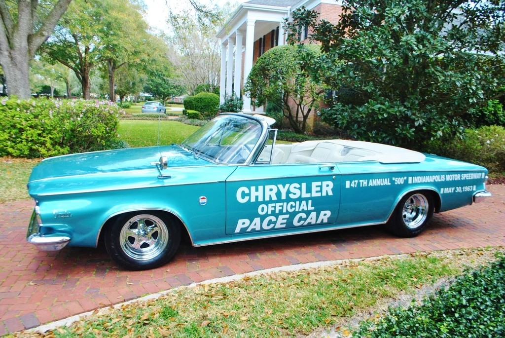 1963 Chrysler 300 Pace Setter Indianapolis 500 Pace Car Convertible