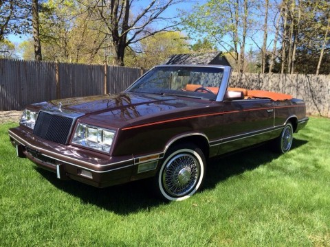 1982 Chrysler LeBaron Medallion Convertible for sale