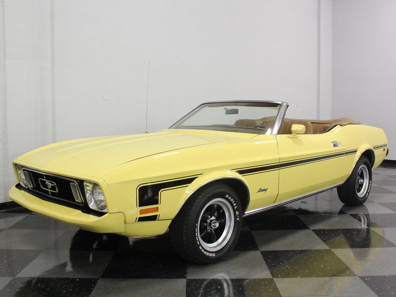 1973 ford mustang convertible l6 for sale. Black Bedroom Furniture Sets. Home Design Ideas