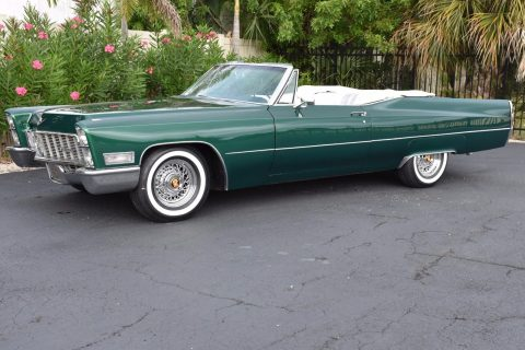 New white top 1968 Cadillac Deville Convertible for sale