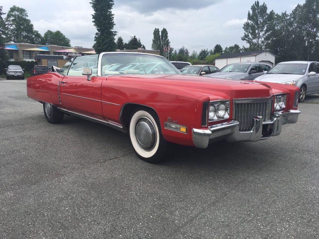 rust free 1972 Cadillac Eldorado convertible