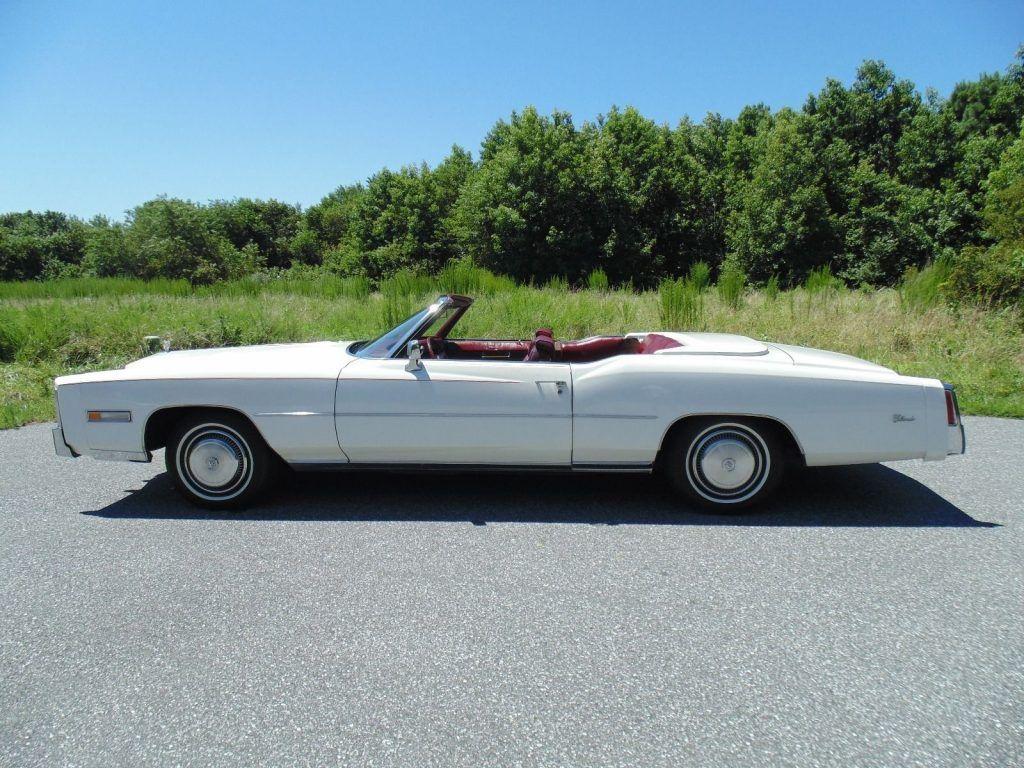 Garaged 1975 Cadillac Eldorado Convertible
