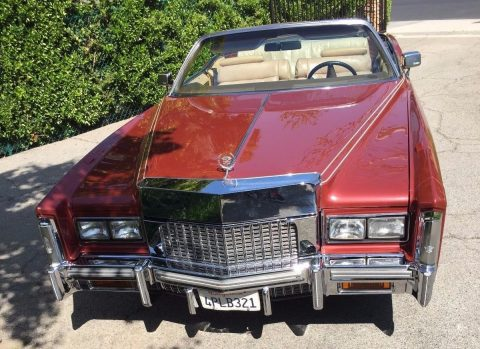 last year 1976 Cadillac Eldorado convertible for sale