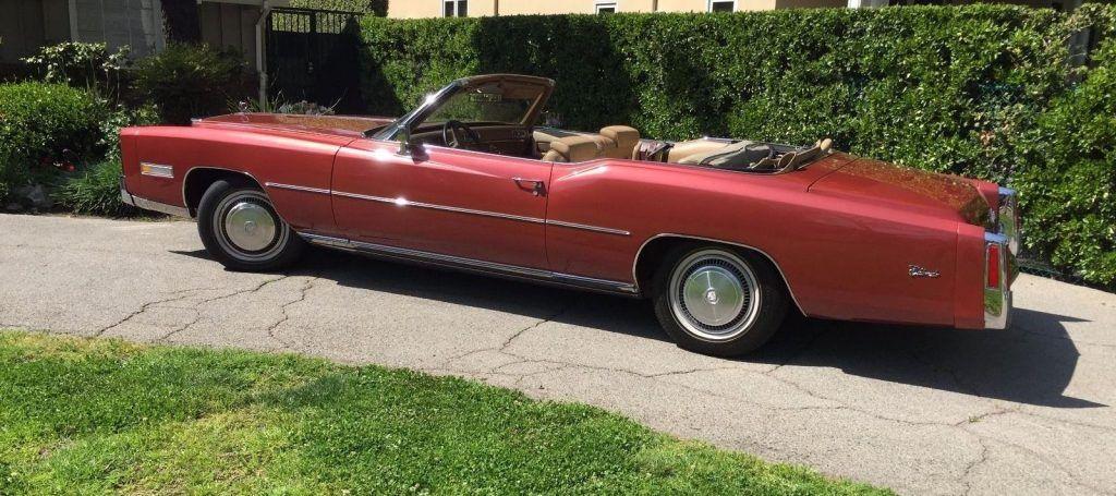 last year 1976 Cadillac Eldorado convertible