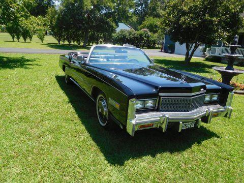 low miles 1976 Cadillac Eldorado Convertible for sale