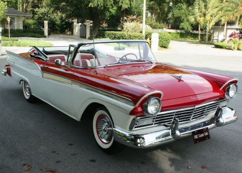 older repaint 1957 Ford Fairlane Sunliner Convertible for sale