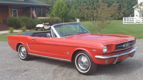 repainted 1964 Ford Mustang convertible for sale