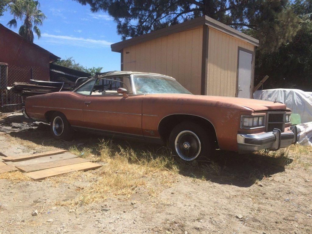 solid 1975 Pontiac Grandville Convertible