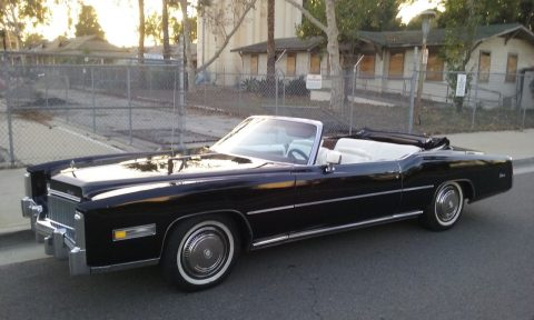 definition of luxury 1976 Cadillac Eldorado convertible for sale