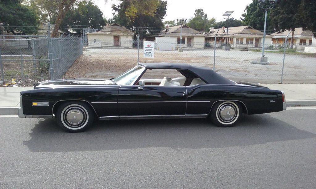 definition of luxury 1976 Cadillac Eldorado convertible