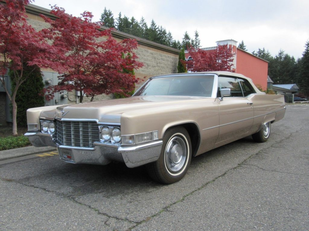 garaged 1969 Cadillac Deville Coupe Convertible