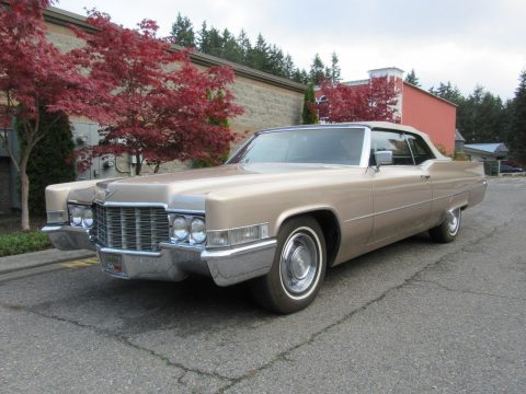 garaged 1969 Cadillac Deville Coupe Convertible for sale
