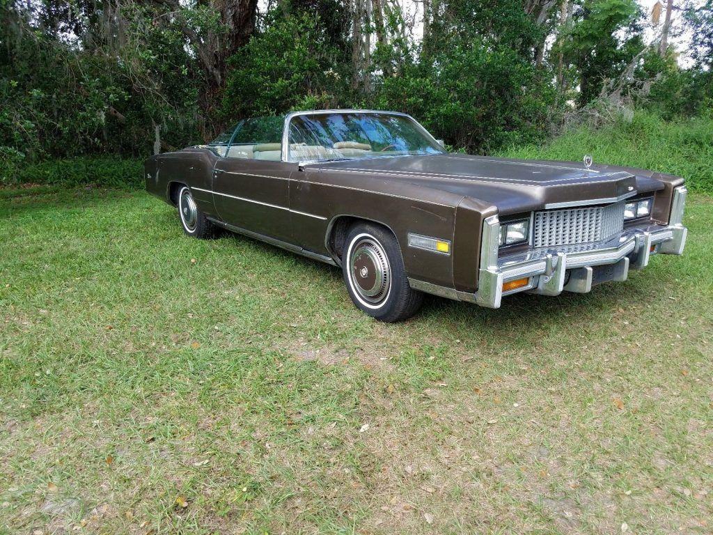 needs some work 1976 Cadillac Eldorado convertible