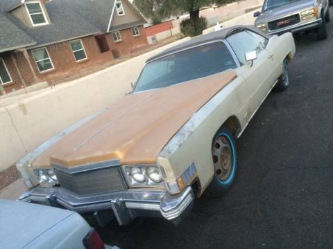 not running 1974 Cadillac Eldorado convertible for sale
