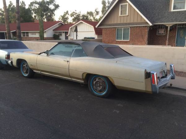 not running 1974 Cadillac Eldorado convertible