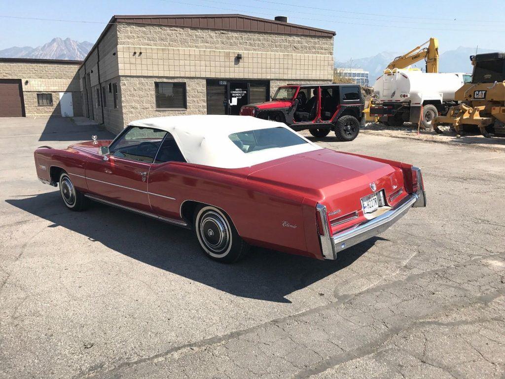 parade car 1976 Cadillac Eldorado convertible