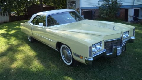 repainted 1971 Cadillac Eldorado convertible for sale