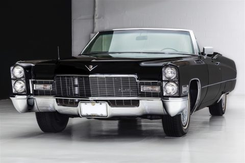 Triple Black 1968 Cadillac Deville Convertible for sale