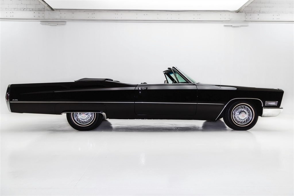 Triple Black 1968 Cadillac Deville Convertible