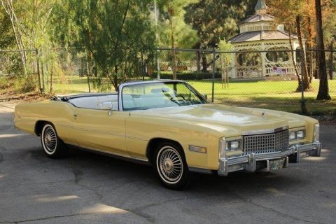 well maintained 1975 Cadillac Eldorado Convertible for sale