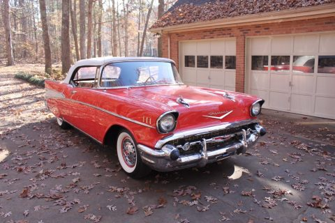 everything works 1957 Chevrolet Bel Air Convertible for sale