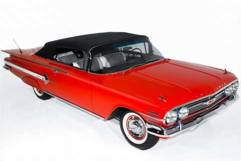 frame off restored 1960 Chevrolet Impala 348 Tri Power convertible for sale