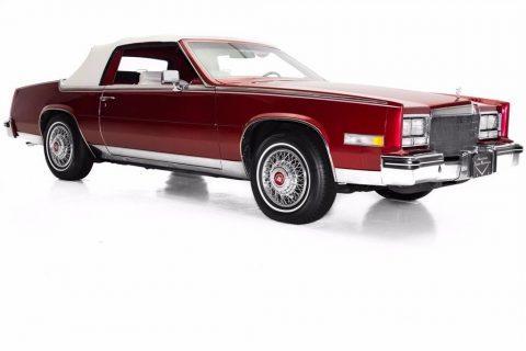 low miles 1984 Cadillac Eldorado Biarritz Convertible for sale