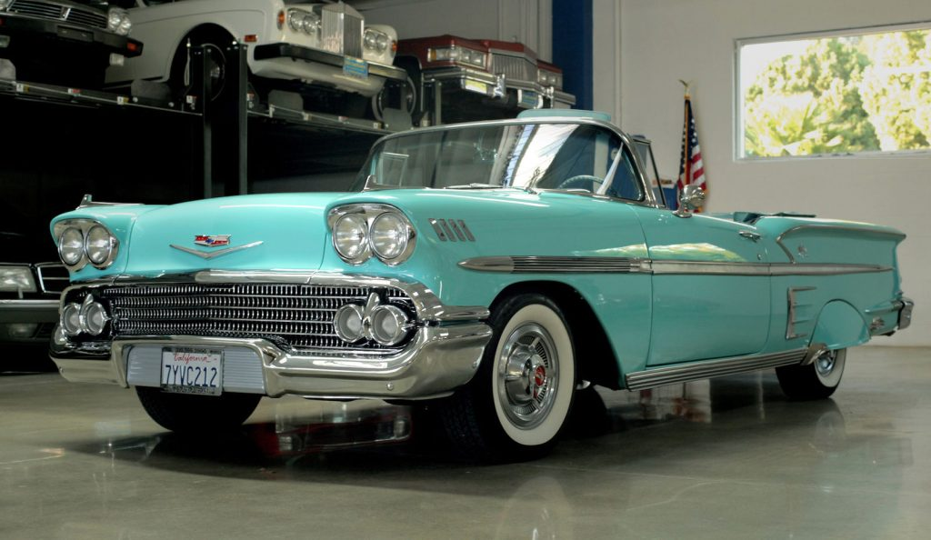 older restoration 1958 Chevrolet Impala Convertible