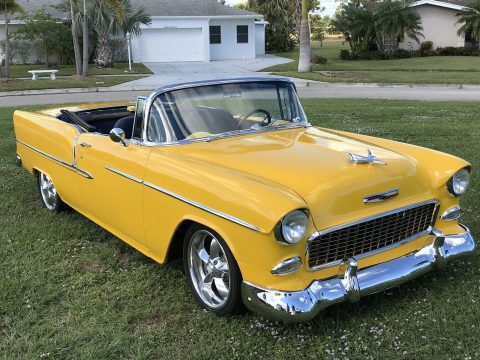 restomod 1955 Chevrolet Bel Air convertible for sale