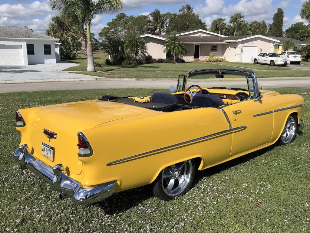 restomod 1955 Chevrolet Bel Air convertible