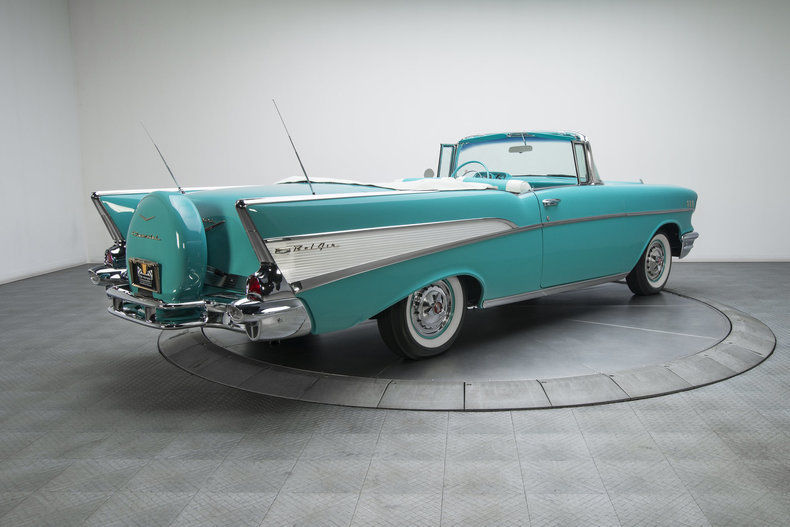 restored 1957 Chevrolet Bel Air convertible