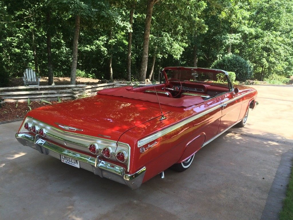 restored 1962 Chevrolet Impala SS Convertible