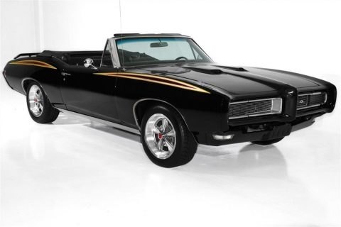 Judge Accents 1968 Pontiac GTO Black 400 Auto convertible for sale