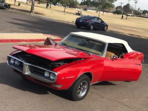 newer paint 1968 Pontiac Firebird Convertible for sale