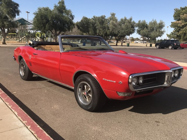 newer paint 1968 Pontiac Firebird Convertible