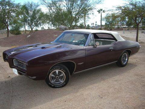 real gto 1968 Pontiac GTO Convertible for sale