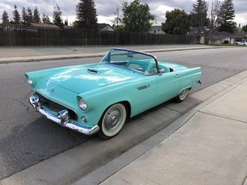Recently restored 1955 Ford Thunderbird convertible for sale
