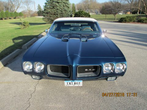 restored 1970 Pontiac GTO convertible for sale