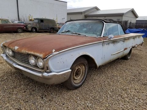 needs restoration 1960 Ford Sunliner Convertible for sale