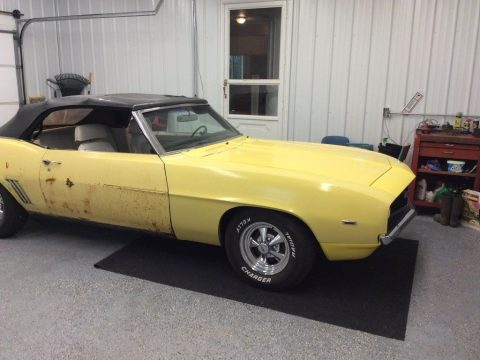 needs work 1969 Chevrolet Camaro convertible for sale