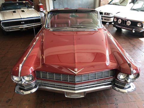 gorgeous 1964 Cadillac Deville RED convertible for sale