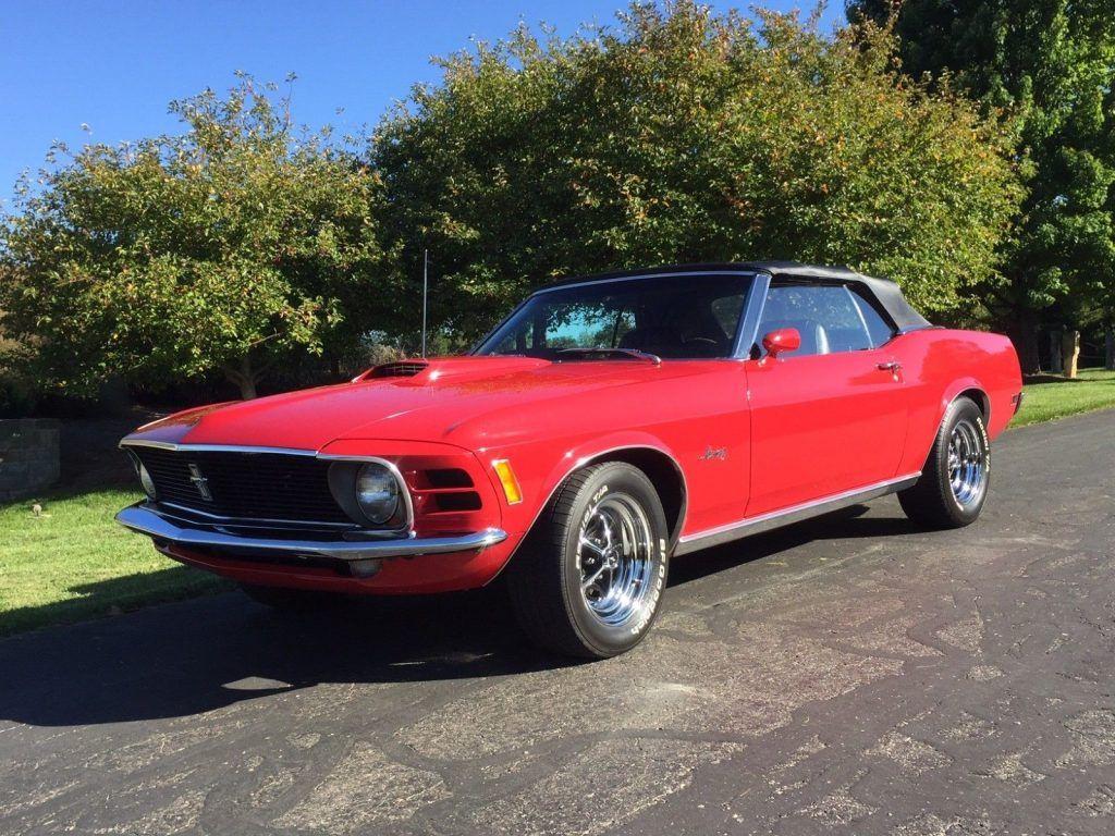 rare 1970 Ford Mustang convertible