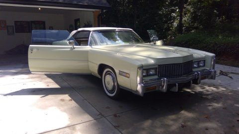 some rust 1976 Cadillac Eldorado convertible for sale