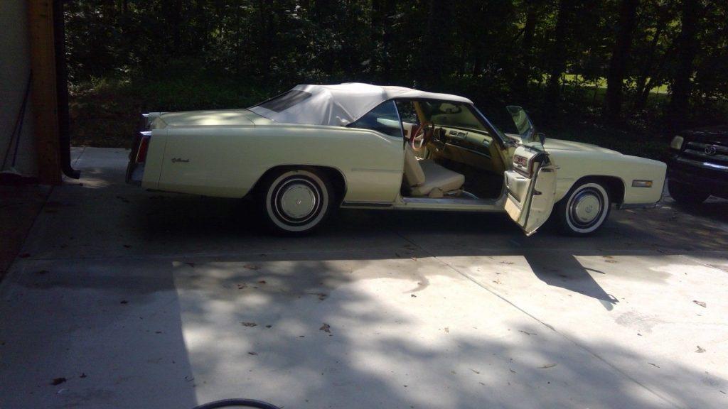 some rust 1976 Cadillac Eldorado convertible